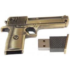 AP-UM9002A-8GB USB-флэш накопитель Apexto Пистолет, бронза